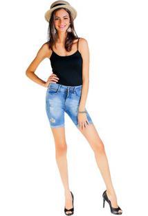 Bermuda Jeans Destroyed - Azul Clarodwz