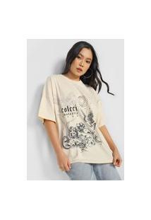 Camiseta Colcci Artística Bege