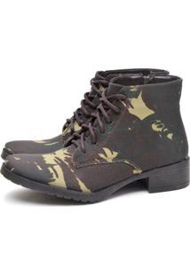 Bota Cano Curto Feminina Life21 L2S260-5 Militar