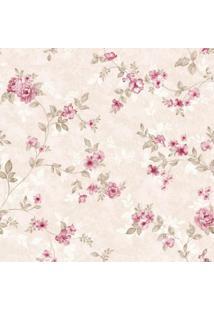 Papel De Parede Stickdecor Adesivo Floral Rosinhas 100Cm L X 300Cm A - Rosa - Dafiti