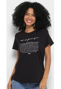 Camiseta T-Shirt Forum Estampada Feminina - Feminino-Preto
