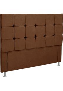 Cabeceira Casal Slim Nobuck Marrom Chocolate - Simbal