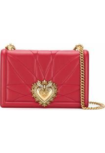 Dolce & Gabbana Bolsa Transversal Devotion Grande - Vermelho