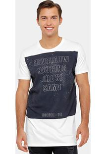 Camiseta Colcci Nothing The Same Alongada Masculina - Masculino