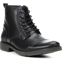 3509b14bad Bota Coturno Shoestock Couro Masculina - Masculino-Preto