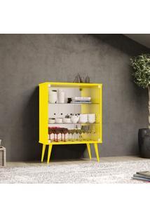 Cristaleira Bar 4001 Siena Móveis Amarelo