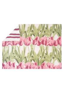 Jogo Americano Tulipa Rosa 4 Peças