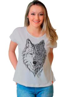Camiseta Wevans Lobo Tattoo Branco