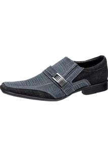 Sapato Social Gasparini Metal Azul/Preto
