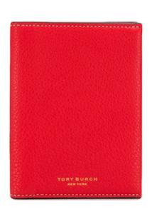 Tory Burch Carteira Color Block - Vermelho