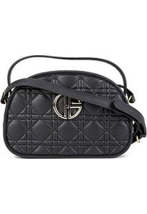 Bolsa Giulia Bardô Mini Bag Transversal Feminina - Feminino-Preto
