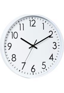 Relógio Parede Plástico Basic White Branco 20X3,8X20 Cm Urban