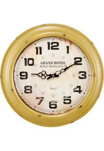 Relógio De Parede Mart Marroquina Amarelo