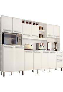 Cozinha Compacta Ágata 13 Pt 2 Gv Branco