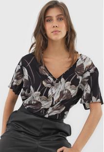 Camiseta Forum Floral Preta