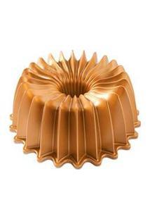 Forma Para Bolo Capacidade De 2,36 Litros Dourado De Alumínio Fundido Nordic Ware