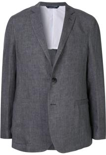 Sartorial Monk Blazer Clássico - Cinza