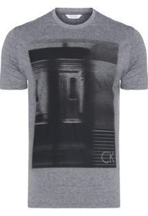 Camiseta Masculina Regular Underground - Cinza