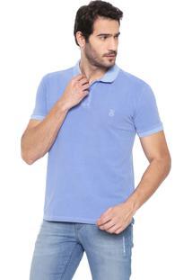 Camisa Polo John John Reta Stone Azul