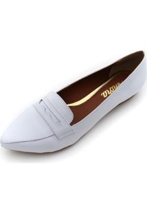 fd5bd157f ... Mocassim Couro Amora Calçados Clássico Branco