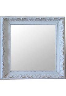Espelho Moldura Rococó Raso 16168 Branco Patina Art Shop