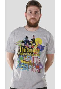 Camiseta Bandup! The Beatles Yellow Submarine - Masculino-Cinza