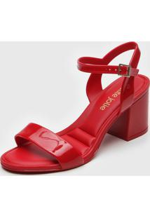 Sandã¡Lia Petite Jolie Verniz Vermelha - Vermelho - Feminino - Pvc - Dafiti