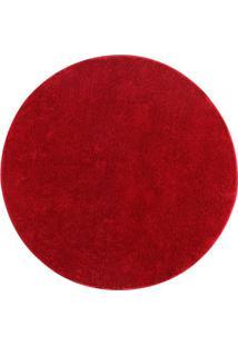 Tapete Classic Redondo- Vermelho- Ø150Cm- Oasisoasis
