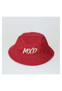 Bucket Mxd Unissex Vermelho Logo Branco