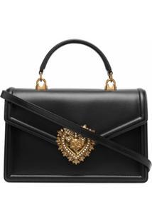Dolce & Gabbana Bolsa Tote Com Placa De Logo - Preto