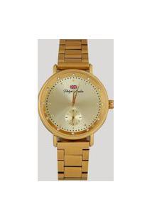 Relógio Analógico Philiph London Feminino - Pl81007145F Dourado