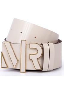 Cinto Cintura/Quadril Regular Metal Letreiro Encapado Nude