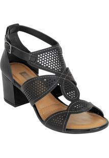 Sandália Dakota Preto Com Perfuros
