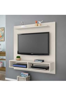 Painel Para Tv Até 43 Polegadas 3 Prateleiras Gama 2075231 Off White - Bechara Móveis