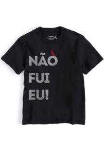 Camiseta Infantil Nao Fui Eu Reserva Mini Masculina - Masculino