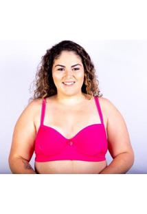 Sutiã Plus Size Jam Lingerie Bojo Gatria Reforçado Feminino - Feminino-Pink