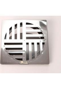 """Grelha Ralodengue Com Dispositivo Anti-Inseto Quadrada 15Cm 6"""" Cromada Garaplas"""