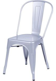 Cadeira De Jantar Retrô Ór Design Cinza