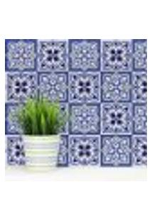 Adesivo De Azulejo Para Cozinha Azul Vila Real 20X20 24Un