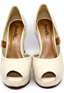 Sapato Barth Shoes Noite - Feminino-Areia