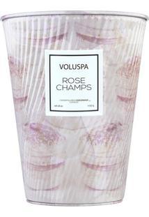 Vela Rose Champs Macaron Collection Cone Textura 2 Pávios 80 Horas Voluspa