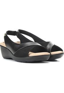Sandália Modare Ultra Conforto Feminina - Feminino-Preto