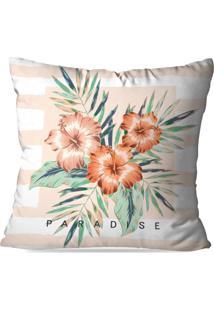 Capa De Almofada Avulsa Decorativa Floral Paradise 45X45Cm