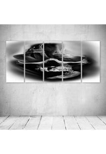 Quadro Decorativo - Smooke Skull - Composto De 5 Quadros
