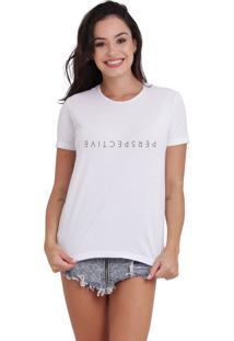 Camiseta Básica Feminina Perspective Branca - Kanui