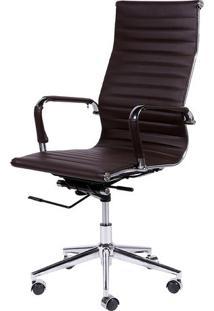 Cadeira Office Eames Esteirinha- Cafã© & Prateada- 11Or Design