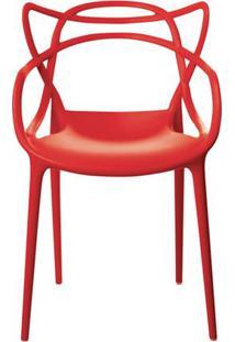 Cadeira Allegra Em Polipropileno Cor Vermelho - 44938 - Sun House