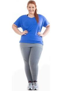 Legging Deia Fitness Tapa Bumbum - Feminino-Cinza
