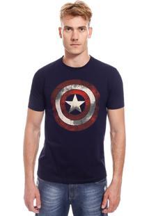 Camiseta Com Estampa Marvel Capitão América