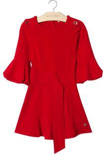 Vestido Le Lis Petit Nathy Vermelho Feminino (Paprika, 7)